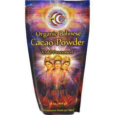 Earth Circle Organics Cacao Powder Organic Verified Balinese Raw 16 Oz