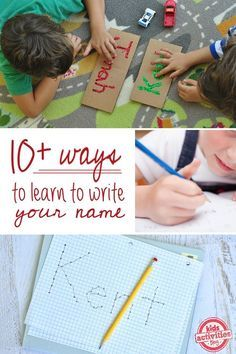 10 Ways to Practice Writing Your Name - these non-traditional ways to increase fine motor skills in kids are full of fun & play.