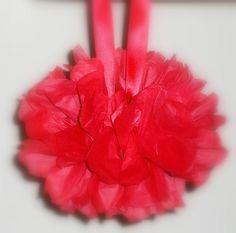 Pallina decorativa realizzata a mano in carta velina Watermelon, Fruit