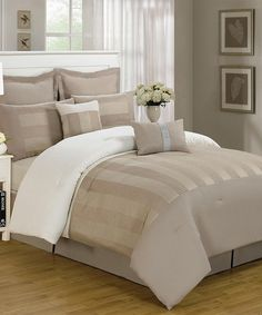 Look at this Taupe Harmony Comforter Set on #zulily today!