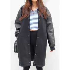 Spliced Pockets Long Edition Stylish Stand Collar Long Sleeve Women's Coat