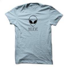 Alien BELIEVE - #funny sweater #sweater pillow. MORE INFO => https://www.sunfrog.com/Funny/Alien-BELIEVE-64012876-Guys.html?68278