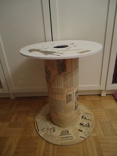 AsiManufaktura: Stolik ze szpuli