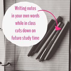 Organized Charm: Write Notes in Your Own Words