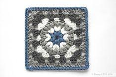 "ergahandmade: Crochet Motif - ""Triple Puff"" Granny Square + Free Pattern Step By Step Crochet Granny Square Afghan, Crochet Quilt, Crochet Blanket Patterns, Crochet Motif, Granny Squares, Puff Stitch Crochet, Bobble Stitch, All Free Crochet, Crochet Chart"