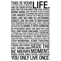 This Is Your Life Motivational Poster