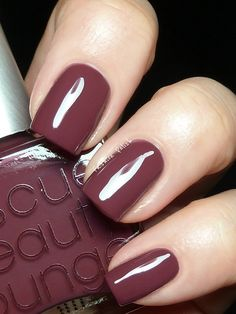 """Rescue Beauty Lounge's """"BRUISED"""" - definitely in my top 5 go-to nail colors.  It's a gorgeous combo of plum and brown, and because of that it looks different based on what you're wearing... believe it or not, it is an amazing NEUTRAL polish.  I always have a backup bottle on hand (when it's not sold out, anyway)"""