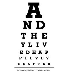 Eye Chart Maker- you can enter in any text.