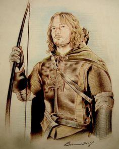 Faramir by ~BenCurtis on deviantART ~ LOTR ~ colored pencil art