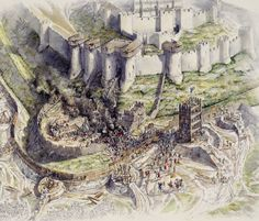 Dover Castle (Seige) Reconstruction England 1216 AD