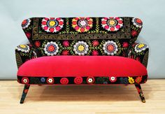 RESERVED Patchwork sofa with Suzani fabrics  1 by namedesignstudio, $2000.00