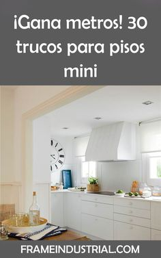 ¡Gana metros! 30 trucos para pisos mini #gana #metros #mini #pisos #decoraciones #estilos Space Saving, Ideas, Decorations, Hacks, Flats, Space, Style, Bricolage, Thoughts