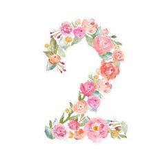 Image of design Watercolor Flowers, Watercolor Art, Number Wallpaper, Font Design, Letter Art, Flower Frame, Picture Design, Silhouette Design, Hand Lettering