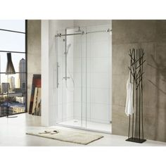paragon bath shower and tub doors shower enclosures paragon bath trident lux premium 3 8 in thick clear tempered glass size 59 1 2 in w x 72 in h - Bathtub Shower Doors