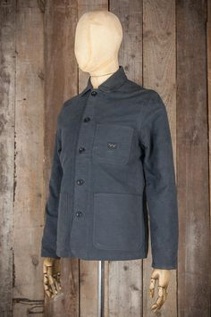 Edwin Union Jacket - Moleskin Cotton Gunmetal