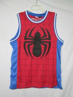 03f2fa4b Marvel Spiderman Basketball Jersey Avengers Spidey Movie Size XL #fashion # clothing #shoes #