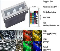 Smart RGB 3 w linear inground light from Dongguan simu hardware lighting co,ltd. Auto change color or RF remote control color change or infrared control Smart color change or Wifi control or DMX Control led outdoor lighting