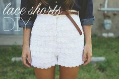 Sincerely, Kinsey: Lace Shorts (Urban Outfitters Inspired) DIY