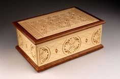 Chip carved jewelry box