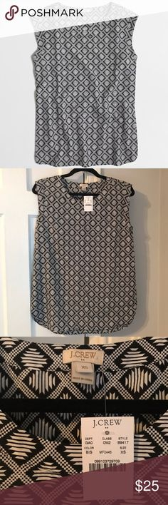J Crew Printed Drapey Sleeveless Top {new} {xs} • Brand: J. Crew • Size: Women's XS • Brand new with tags ✨ • Machine washable • Perfect to wear by itself or under a blazer! J. Crew Tops