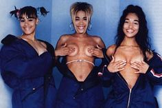 """Ah, bring us back to the days where tunes like """"Creep"""", """"Waterfalls"""", and """"No Scrubs"""" were being pumped constantly out of the radio. If listening to your favorite TLC tracks don't bring back enough nostalgia of the 90's, check out this photo of Left Eye, T-Boz, and Chilli when the trio was on top (or here, topless)."""