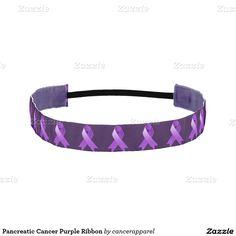 Pancreatic Cancer Purple Ribbon Athletic Headbands