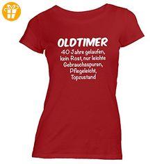 Damen T-Shirt - Oldtimer Geburtstag 40 Jahre - Birthday 40 Years Fun Geschenkidee, Rot, XL - Shirts zum 40 geburtstag (*Partner-Link)