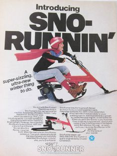 What do you get when you cross a motorcycle with a snowmobile? You get a Chrysler Sno Runner, which I had never heard of or seen before tonight. Boat Engine, Anti Fashion, Best Ads, Heavy Truck, Old Bikes, Mini Bike, Cool Bicycles, Station Wagon, Go Kart