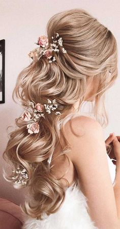 Elegant Wedding Hair, Wedding Hair Down, Wedding Bride, Wedding Night, Wedding Makeup, Wedding Ideas, Wedding Songs, Wedding Quotes, Wedding Card