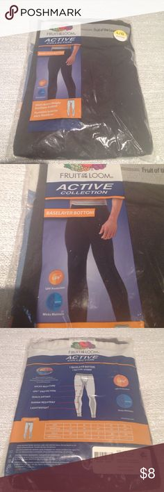 Fruit of the Loom Baselayer Bottom Brand new still in packaging. This is a large men's active weight baselayer bottom. Fruit of the Loom Pants