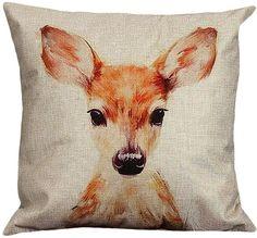 Baby Deer Throw Pillow Cover