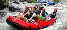 Rafting down Telaga Waja river