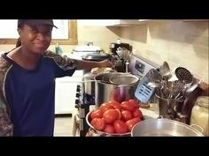 How I Can MANGO & TOMATO SALSA! - YouTube Canning 101, Preserves, Sweet Treats, Spices, Dinner, Youtube, Desserts, Food, Essen