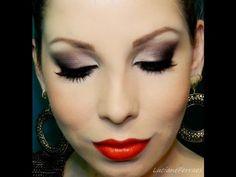 Olhos Marcantes com Batom Vermelho, por Lu Ferraes - YouTube