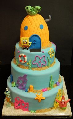 Mason loves Spongebob. This might have to be his 2nd bday party idea, although he never really got a first :(