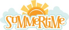 Summertime SVG scrapbook title summer svg files sun svg file cloud svg file cute svg cuts free svgs