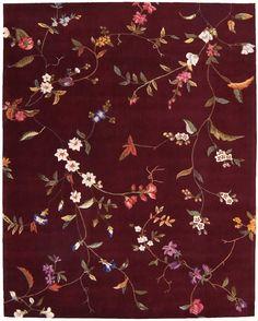 Julian Ruby Area Rug  - Nourison JL45 Textiles, Textile Patterns, Textile Prints, Textile Design, Print Patterns, Floral Prints, Autumn Inspiration, Design Inspiration, Surface Pattern Design