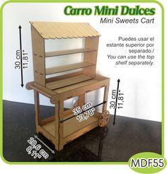 Carro mini dulces para mesa/Counter top mini sweets cart. - Pedidos/Inquiries to: crearcjs@gmail.com