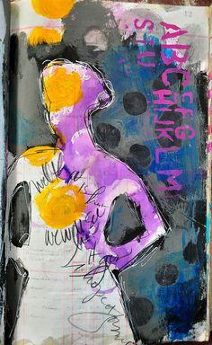 Visual journaling, mixed media art, and artsy scrapbooking. Mixed Media Collage, Collage Art, Art Journal Pages, Art Journals, Altered Book Art, Scrapbook Journal, Art Journal Inspiration, Mail Art, Creative Art