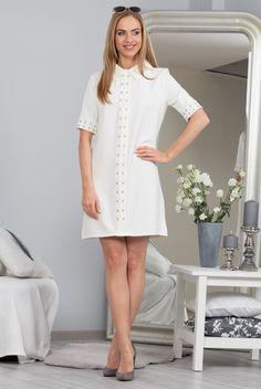 Sukienka kremowa 98700