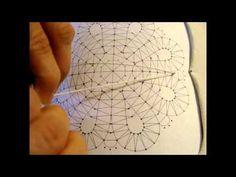 Как навить скань в три нити на коклюшку?