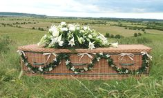 Willow coffins - so Thomas Hardy - are enjoying a huge comeback. Seen at the funerals of Jack Bruce of the rock group Cream, & Deborah, Dowager Duchess of Devonshire (the youngest Mitford sister), the woven berths have obvious ecological advantages