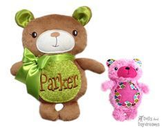Embroidery Machine Teddy Bear ITH Pattern - Dolls And Daydreams