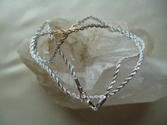 Twisted silver plated Chain