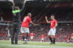 Dion Dublin & Denis Irwin at the 2015 Legends game
