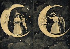 Spooning the Moon--Playful Couple, c.1900-1920