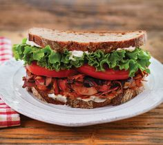 Coconut bacon. Have you heard of it? Check it out in this vegan BLT. Great for a veggie lunch.