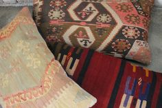 vintage kelim kussens. rechthoek. prachtige kleuren!