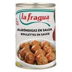Albóndigas en Salsa, Calidad Extra  Origen: La Rioja - Navarra, Peso bruto: 480 gr., Peso neto: 430 gr., Peso escurrido: 430 gr., Envase: Lata 425 Abrefácil - See more at: http://www.labuenamesa.eu/index.php?id_product=169&controller=product&id_lang=1#sthash.GE1LArFQ.dpuf