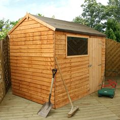6 x 8 Walton's Reverse Overlap Apex Wooden Shed on Walton Garden Buildings
